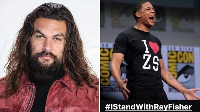 Jason Momoa estrella de 'Aquaman' publica «#IStandWithRayFisher»