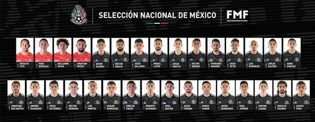 Lista de convocados del Tri para enfrentar a EU y Argentina