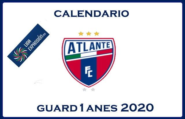 Calendario Atlante – Guardianes 2020 – Liga Expansión