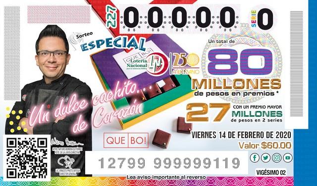 Loteria Nacional Sorteo Especial No. 227 en Vivo – Viernes 14 de Febrero del 2020