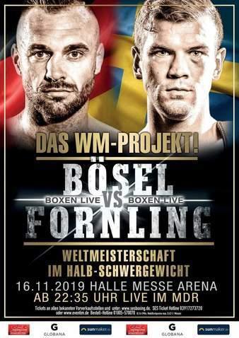 Dominic Boesel vs Sven Fornling en Vivo – Box – Sábado 16 de Noviembre del 2019
