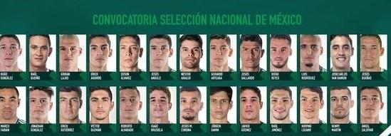 Convocados a la Selección Mexicana para enfrentar a Costa Rica y Chile