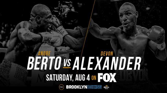 Devon Alexander vs Andre Berto en Vivo – Box – Sábado 4 de Agosto del 2018
