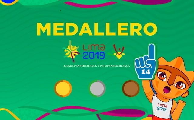 Así va el Medallero – Dia 14 – Juegos Panamericanos Lima 2019
