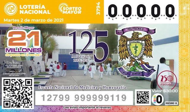 Lotería Nacional Sorteo Mayor No. 3794 en Vivo – Martes 2 de Marzo del 2021