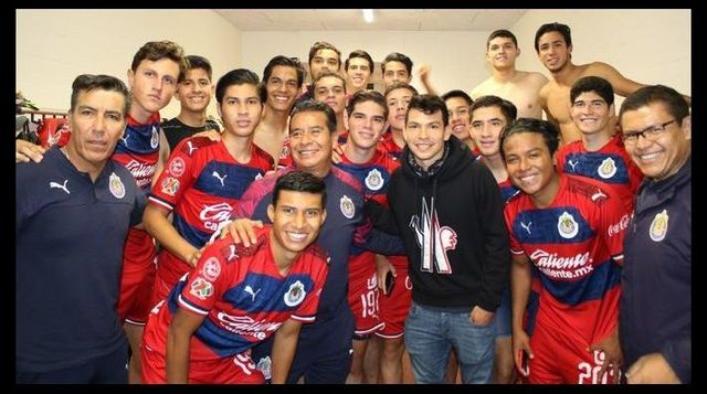 Chucky Lozano, presente en el duelo entre Chivas sub 19 y PSV