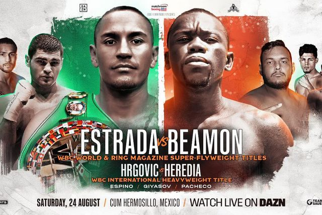 "Juan Francisco ""Gallo"" Estrada vs Dewayne Beamon en Vivo – Box – Sábado 24 de Agosto del 2019"