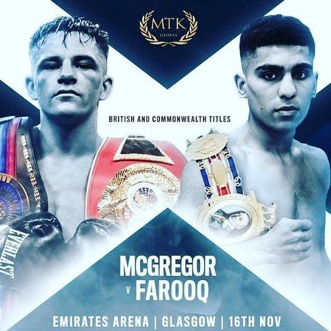 Lee McGregor vs Ukashir Farooq en Vivo – Box – Sábado 16 de Noviembre del 2019
