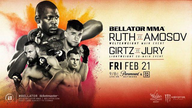 MMA Bellator 239 en Vivo – Ruth vs. Amosov – Viernes 21 de Febrero del 2020