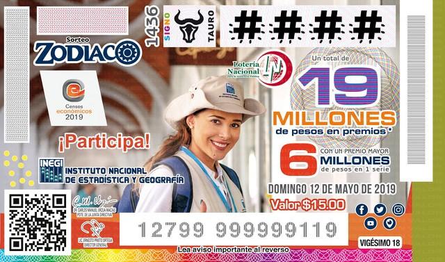 Loteria Nacional Sorteo Zodiaco Especial No. 1436 en Vivo – Domingo 12 de Mayo del 2019
