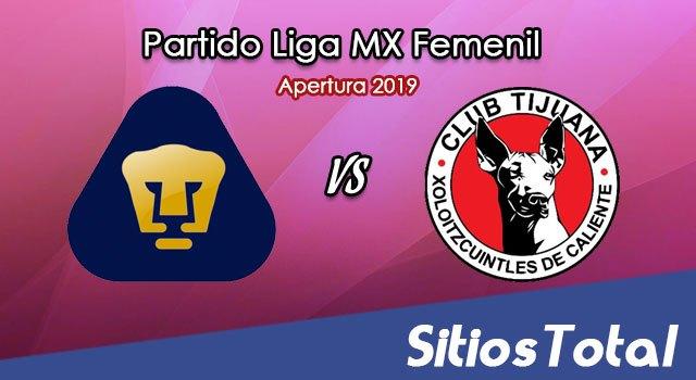 Ver Pumas vs Xolos Tijuana en Vivo – Liga MX Femenil – Apertura 2019 – Sábado 13 de Julio del 2019