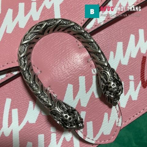 Túi Xách Gucci Dionysus Small Size 28 cm họa tiết Gucci nền hồng