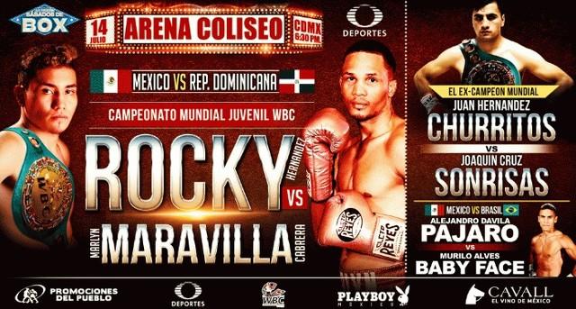 Eduardo Hernandez vs Marlyn Cabrera en Vivo – Box – Sábado 14 de Julio del 2018