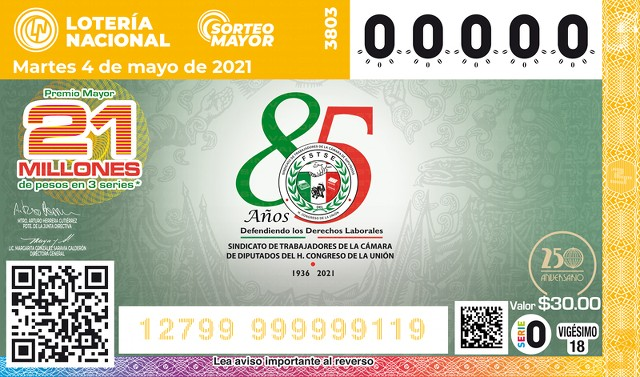 Loteria Nacional Sorteo Mayor No. 3803 en Vivo – Martes 4 de Mayo del 2021