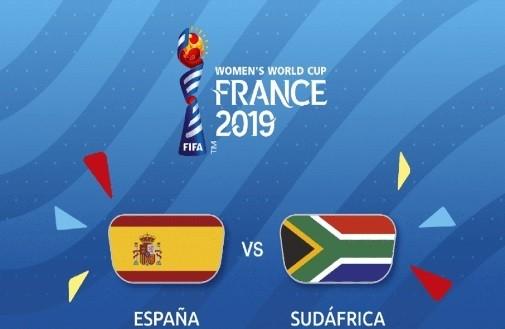 Partido del Mundial femenil con España vs Sudáfrica