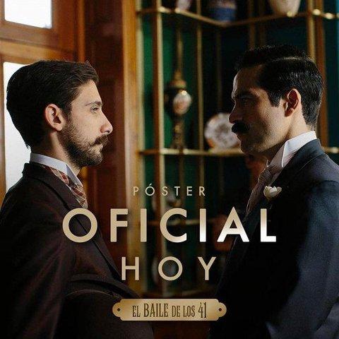 """Poster oficial de la pelicula """"El baile de los 41"""" con Poncho Herrera"""