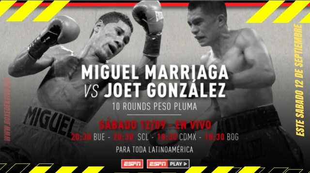 Miguel 'The Scorpion' Marriaga vs Joet González en Vivo – Box – Sábado 12 de Septiembre del 2020