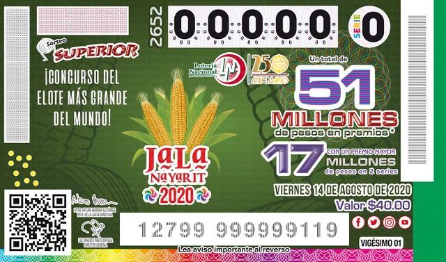 Lotería Nacional Sorteo Superior No. 2652 en Vivo – Viernes 14 de Agosto del 2020