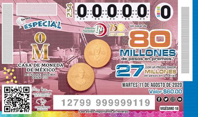 Loteria Nacional Sorteo Especial No. 234 en Vivo – Martes 11 de Agosto del 2020