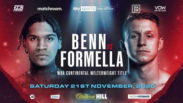 Conor Benn vs Sebastian Formella en Vivo – Box – Sábado 21 de Noviembre del 2020