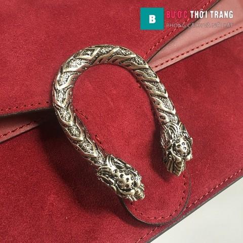 Túi Xách Gucci Dionysus Small Size 28 cm chất liệu nhung màu đỏ đô - 400249