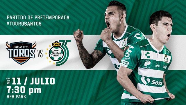 Toros RGV FC vs Santos en Vivo – Partido Amistoso – Miércoles 11 de Julio del 2018