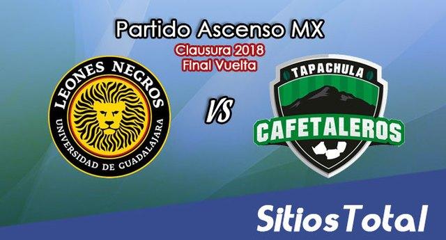 Leones Negros vs Cafetaleros de Tapachula en Vivo – Final Vuelta – Ascenso MX – Domingo 29 de Abril del 2018