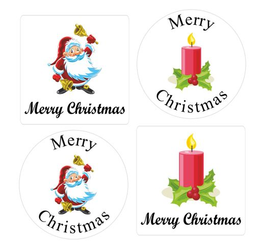 Merry Christmas Labels.Details About 35mm Merry Christmas Envelope Seals Stickers Labels Waterproof Santa Candle Xmas