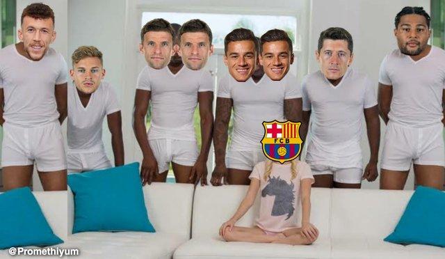 Meme 3 del Barcelona 2-8 Bayern Munich en la Champions League