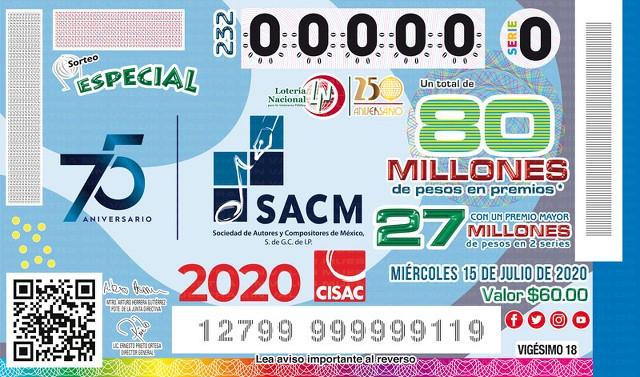 Loteria Nacional Sorteo Especial No. 232 en Vivo – Miércoles 15 de Julio del 2020
