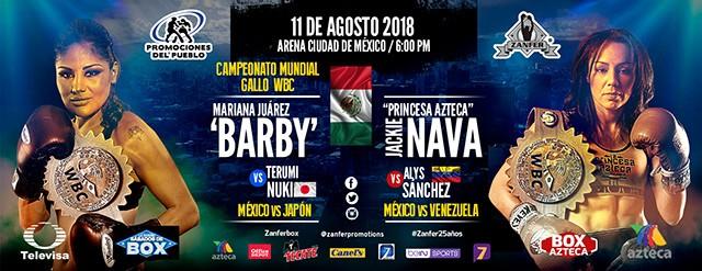 Mariana Juarez vs Terumi Nuki en Vivo – Box – Sábado 11 de Agosto del 2018