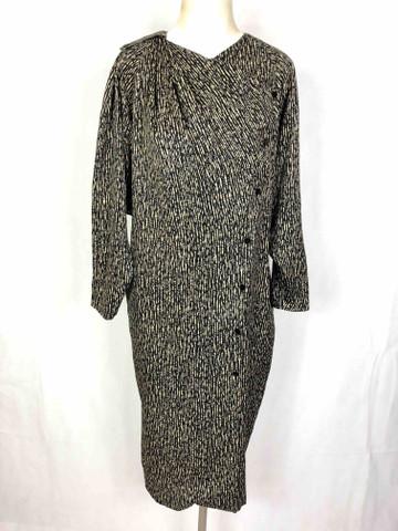 Lapidus Sz46 Détails En Vintage Sur L Ted Soie Femme Boutique '80 Habit Robe c3qjL54AR