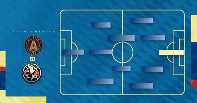 Alineación confirmada del América vs Atlanta –  Campeones Cup