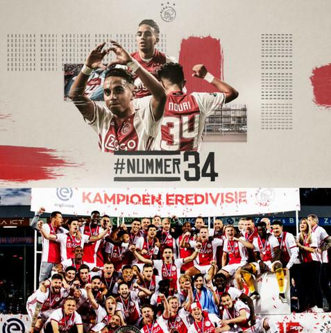 El Ajax es campeón de la Liga Eredivisie