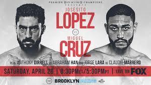 Josesito Lopez vs Miguel Cruz en Vivo – Box – Sábado 28 de Abril del 2018
