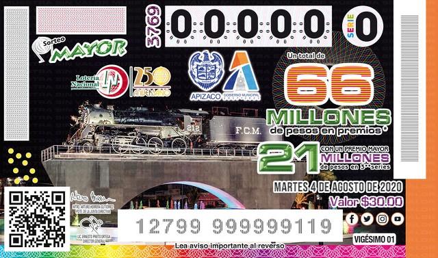 Loteria Nacional Sorteo Mayor No. 3769 en Vivo – Martes 4 de Agosto del 2020