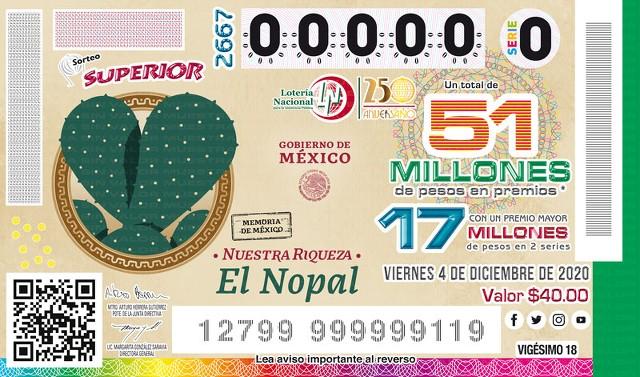 Loteria Nacional Sorteo Superior No. 2667 en Vivo – Viernes 4 de Diciembre del 2020
