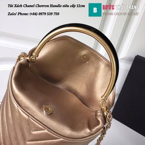 Túi Xách Chanel Chevron Handle with Chic Bucket 12cm - A57861
