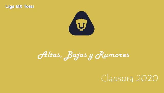 Altas, Bajas y Rumores del Pumas – Clausura 2020
