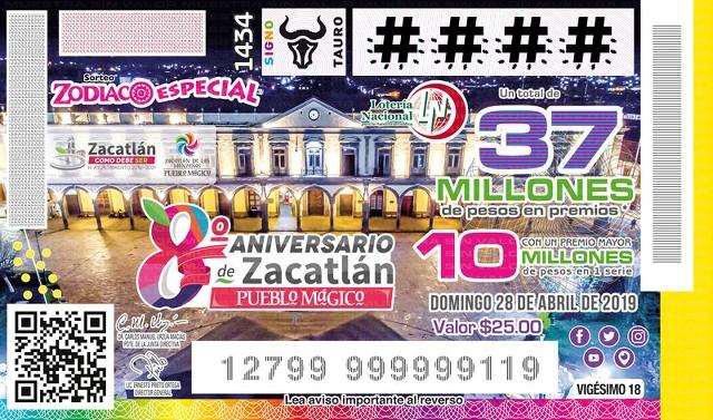 Loteria Nacional Sorteo Zodiaco No. 1434 en Vivo – Domingo 28 de Abril del 2019