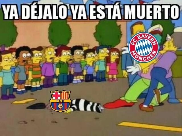 Meme 10 del Barcelona 2-8 Bayern Munich en la Champions League