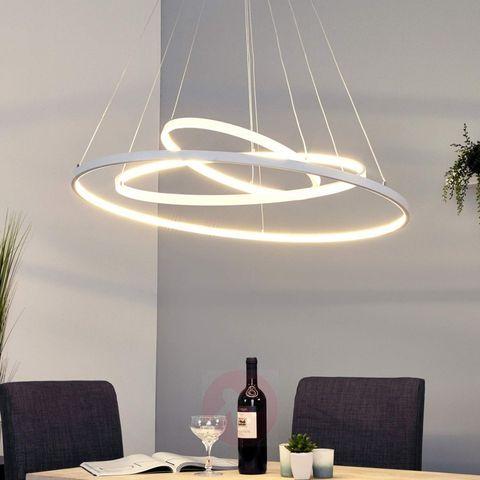 lampadario led moderno 3 anelli di design no dimmer luce