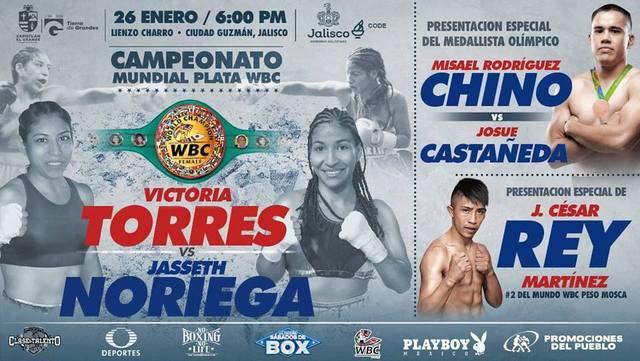 Victoria Torres Canul vs Jasseth Noriega en Vivo – Box – Sábado 26 de Enero del 2019