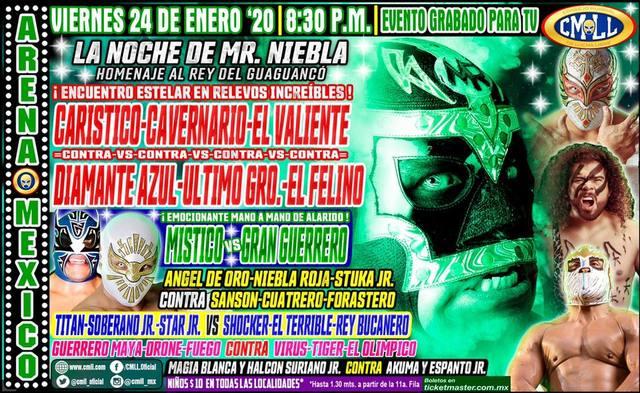 Lucha Libre de la CMLL desde la Arena México en Vivo – Viernes 24 de Enero del 2020