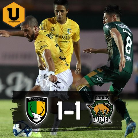 Resultado Venados FC vs Potros UAEM – J2 –  del Clausura 2019