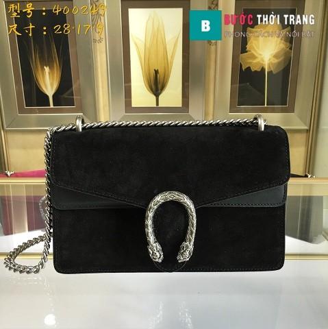 Túi Xách Gucci Dionysus Small Size 28 cm chất liệu nhung màu đen