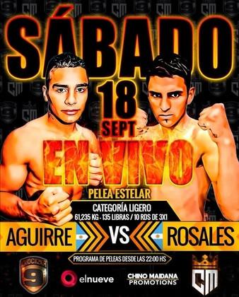 Sebastian Ezequiel Aguirre vs Sergio Damian Rosalez en Vivo – Box – Sábado 18 de Septiembre del 2021
