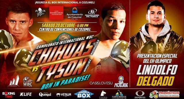 """Francisco """"Chihuas"""" Rodríguez Jr. vs Hernán """"Tyson"""" Márquez en Vivo – Box – Sábado 20 de Octubre del 2018"""