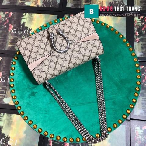 Túi Xách Gucci Dionysus Small Size 28 cm, khóa đầu rồng, màu nâu nhạt