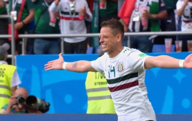 'Chicharito' Hernández, designado el mejor jugador del partido